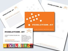 Corporate Design: PIXELUTION.AT