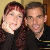 Sandra und ich im Restaurant Elbblick