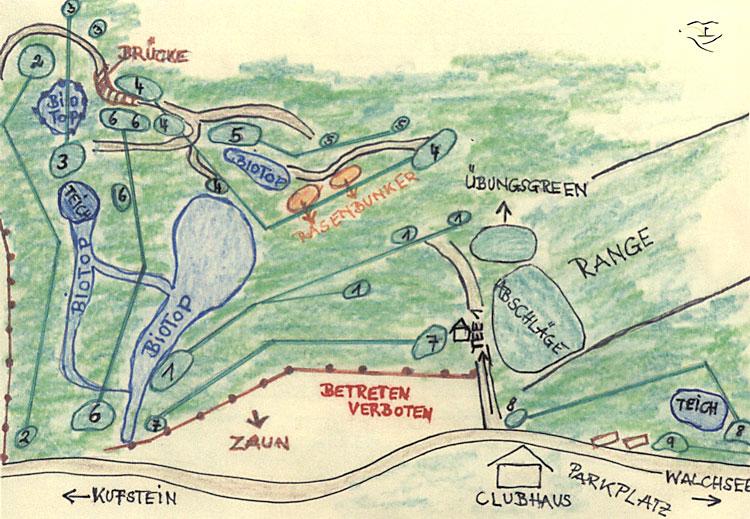 Golfclub Walchsee-Moarhof Übersichtsplan
