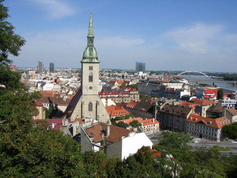 Wunderschöne Landschaft von Bratislava