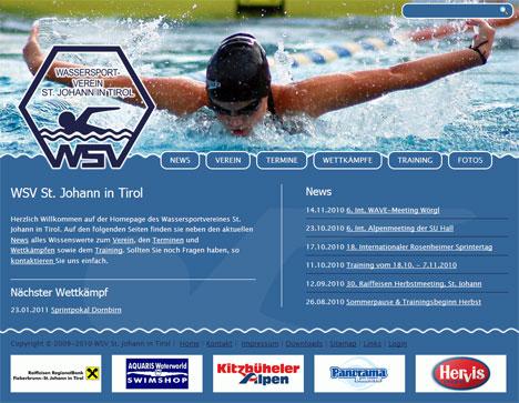 TYPOlight-Website für den WSV St. Johann in Tirol