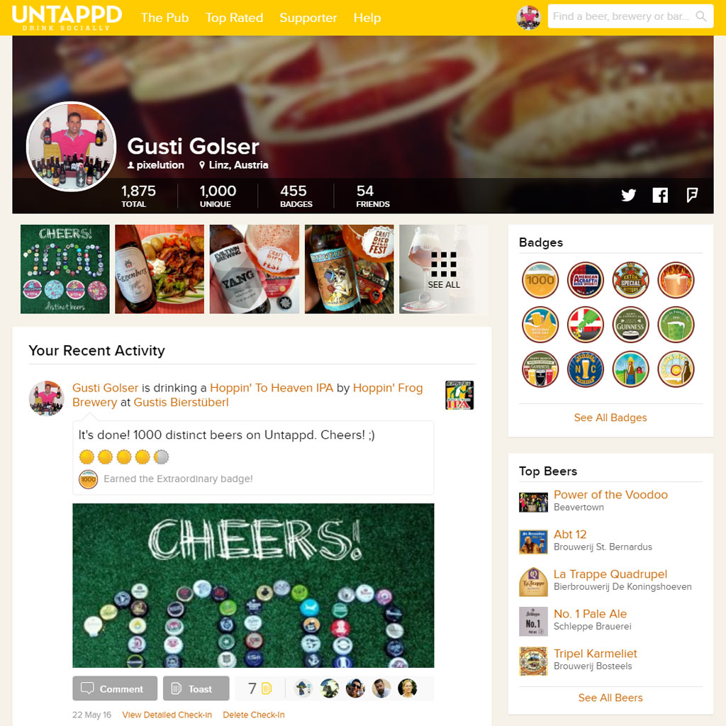 Untappd - Das soziale Netzwerk für Bierfreunde