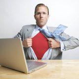 Web-Supermänner und ihre Überlebenskämpfe