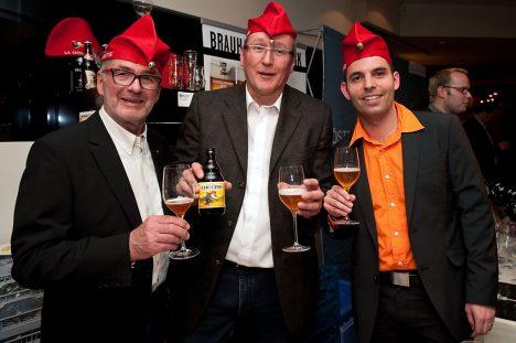 Bierfest 2012: Heinrich Wibmer und August F. Golser beim Bierfest im Casino Linz