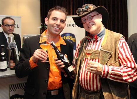 Bierfest 2013: Conrad Seidl und August F. Golser beim Bierfest im Casino Linz