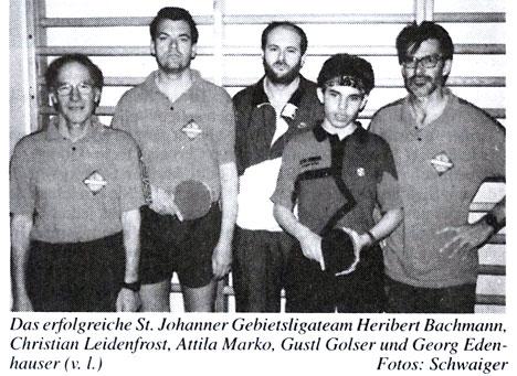 Tischtennis Gebietsliga