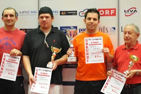 8. Linzer Tischtennis-Turnier: Sieger Hobbybewerb