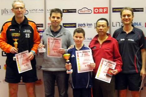 """9. Linzer Tischtennis-Turnier: Sieger Hobby """"B-Bewerb"""""""