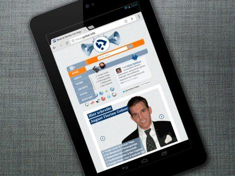 GOLSER.info auf dem Nexus 7