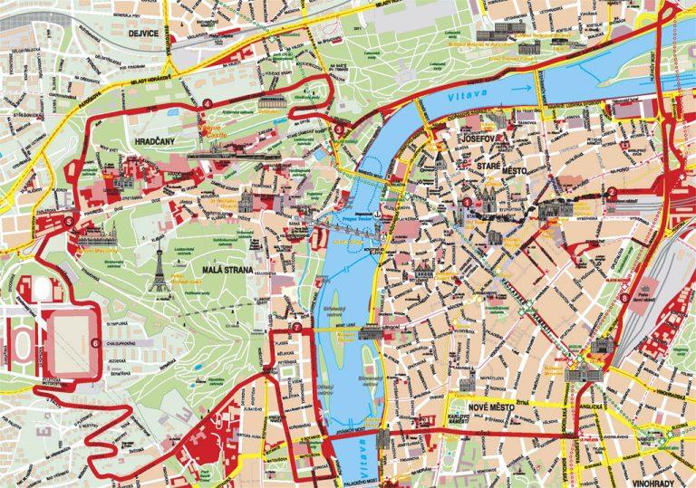 Stadtplan von Prag