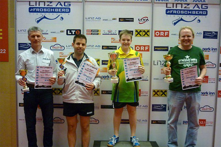 11. Linzer Tischtennis-Turnier: Sieger Meisterschaftsbewerb (bis 1.100 RC-Punkte)