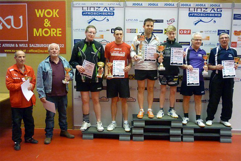 11. Linzer Tischtennis-Turnier: Sieger Doppelbewerb