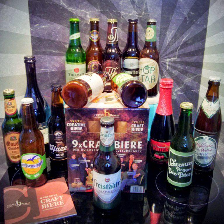 Eine feine Auswahl an Craft-Bieren