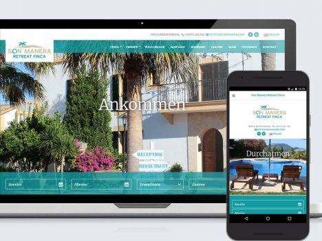 Finca Son Manera Responsive Webdesign