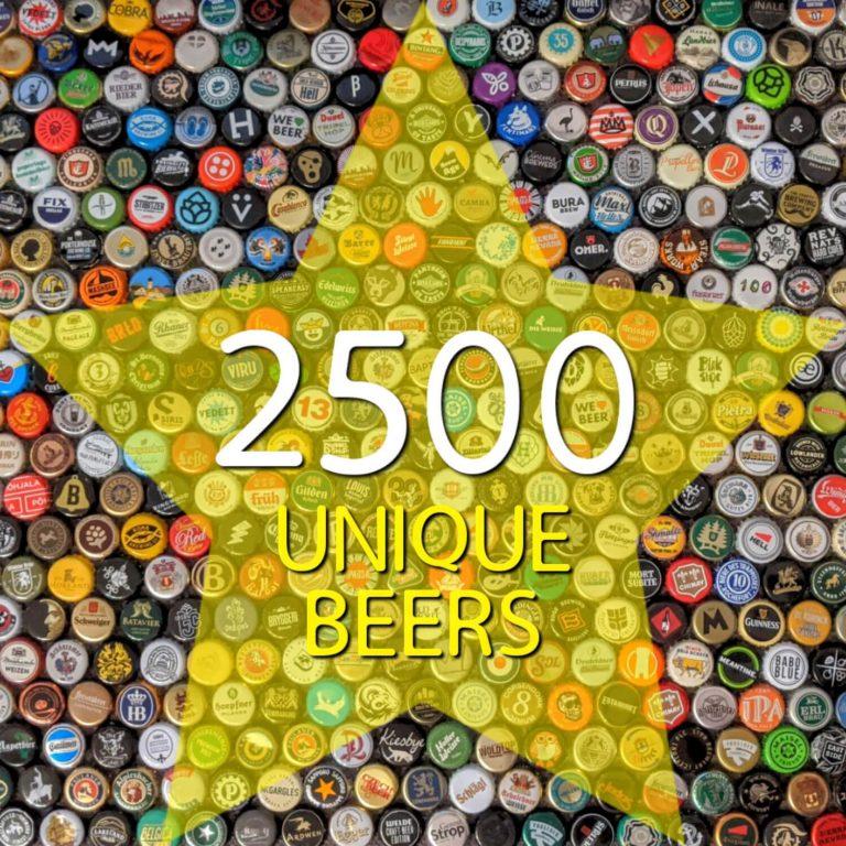 2500 Unique Beers auf Untappd: Nächster Meilenstein erreicht!