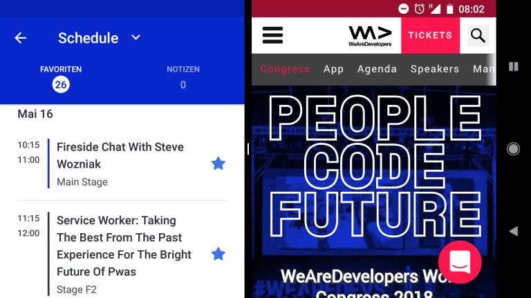 Digitale WeAreDevs Agenda