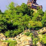 Schlossbergstiege und Uhrturm